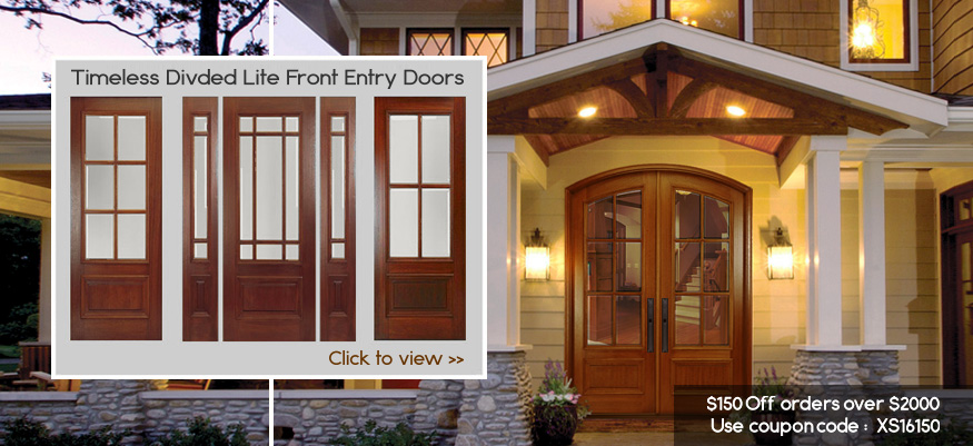 True Divided Lite Entry Doors