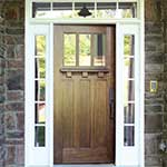 Craftsman/Mission Style Mahogany Entry Door