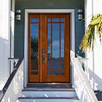 9-Lite Mission Style Entry Door with Matching Sidelite