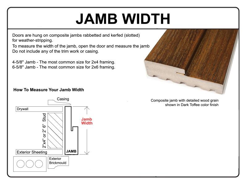 Glasscraft 6 panel 2 cherry wood grain fiberglass double for Window jamb definition