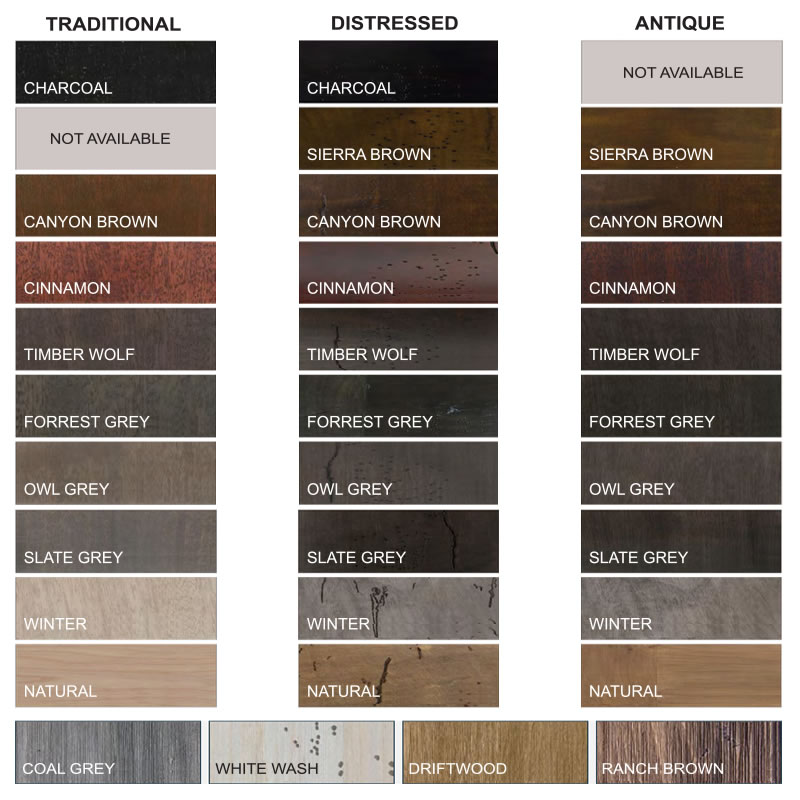 BarnCraft Stain Colors 2019