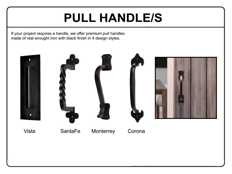industrial plumber barn door pull pull handle help