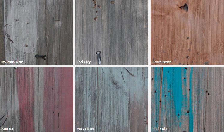 Barnwood Knotty Alder Stain Options