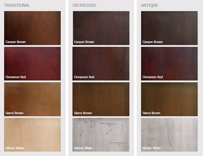 Birch Stain Options