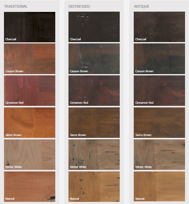 Rustic Knotty Alder Stain Options