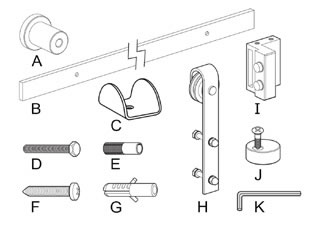Barn Door Kit Items