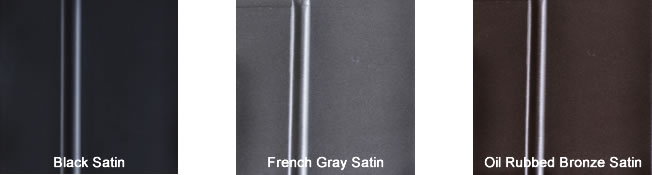 Satin Finish Color Options