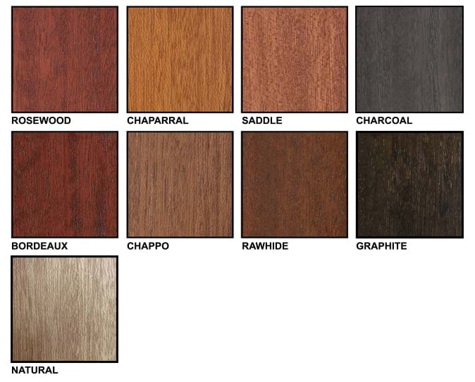 Mahogany Color Chart