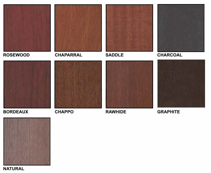 Andean Walnut Color Chart
