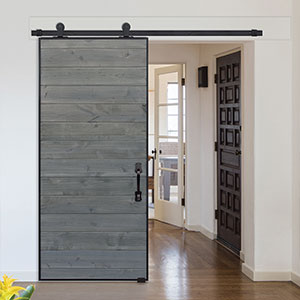 Model: Horizontal Iron Plank Barn Door