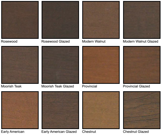 American Cherry Grain Color Chart