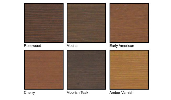 Knotty Alder and Fir Grain Color Chart