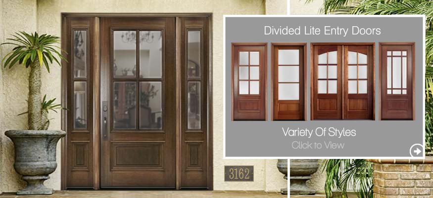 Divided Lite Entry Doors