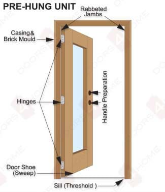 Door Prehung  sc 1 st  Doors4Home & MAI Doors A798P-ERCU Pre-hung Andean Walnut Eyebrow Top 2-Panel with ...