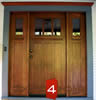 Mahogany Craftsman Style Entry Door