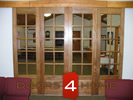 Set of Four Mahogany 10-Lite French Doors