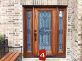Exterior Door with Matching Sidelites
